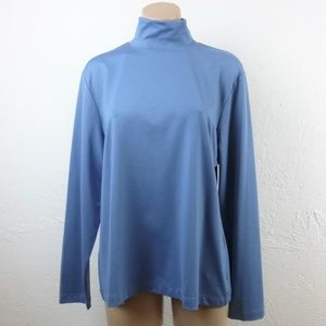 Chico's Blue Mock Neck Top size 3 XL